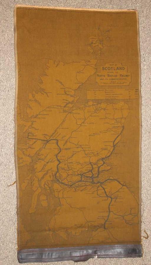 Map Of Scotland Showing The North British Railway