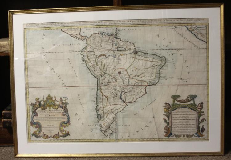 1685 map of South America: L'Amerique Meridionale.