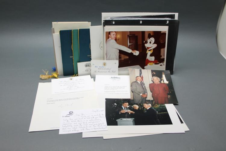 ~34 items incl 2 TLSs by George H. W. Bush.