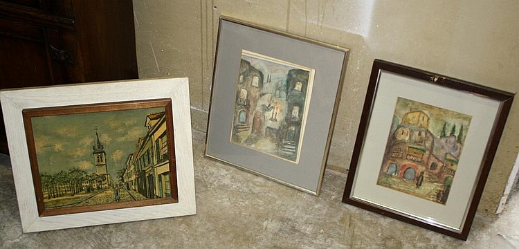 2 signed S. Karczmar city scenes