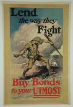 2 WWI Posters. Lend the Way They Fight & Come On!