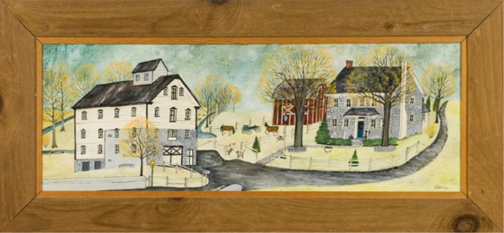 Dolores Hackenberger. (Am b.1930) Amish Farmhouse.