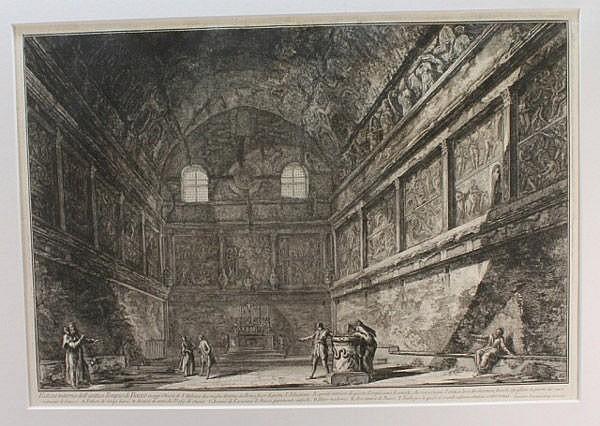 Piranesi, Veduta interna dell'antico Tempio