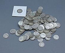 A lot of U.S. Dimes. A lot of 78 U.S. dimes.