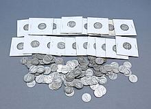 A lot of Mercury Dimes. A lot 138 of Mercury dimes.