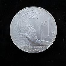 1994-W Vietnam Veterans Silver Dollar 1994-W Vietnam Veterans Silver Dollar. 26 g.