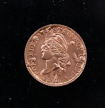 C.S.A restrike 1957 bronze 1 cent. A C.S.A restrike 1957 bronze 1 cent.