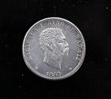 Kingdom of Hawaii Kalakaua I 1883 1/4 Dollar A Kingdom of Hawaii Kalakaua I 1883 1/4 Dollar.6.3 g.