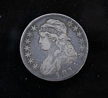 Us Liberty Capped 1814 1/2 dollar. A Us Liberty Capped 1814 1/2 dollar. 12.9 g.