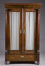 Empire armoire with glass doors.