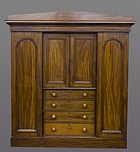 Large wooden armoire.