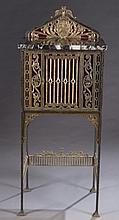 Renaissance Revival metal framed cabinet.