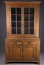 Large walnut cabinet.