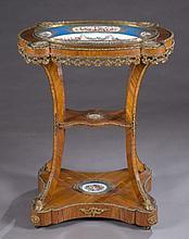 Napoleon III ormolu mounted table.