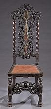 William and Mary style side chair.