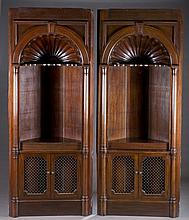 Pair of Neoclassical corner cabinets.