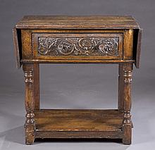 Continental wooden fold out side table.