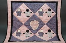 5 handmade quilt covers/coverlets. 20th c.