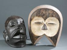 A mask and headdress.