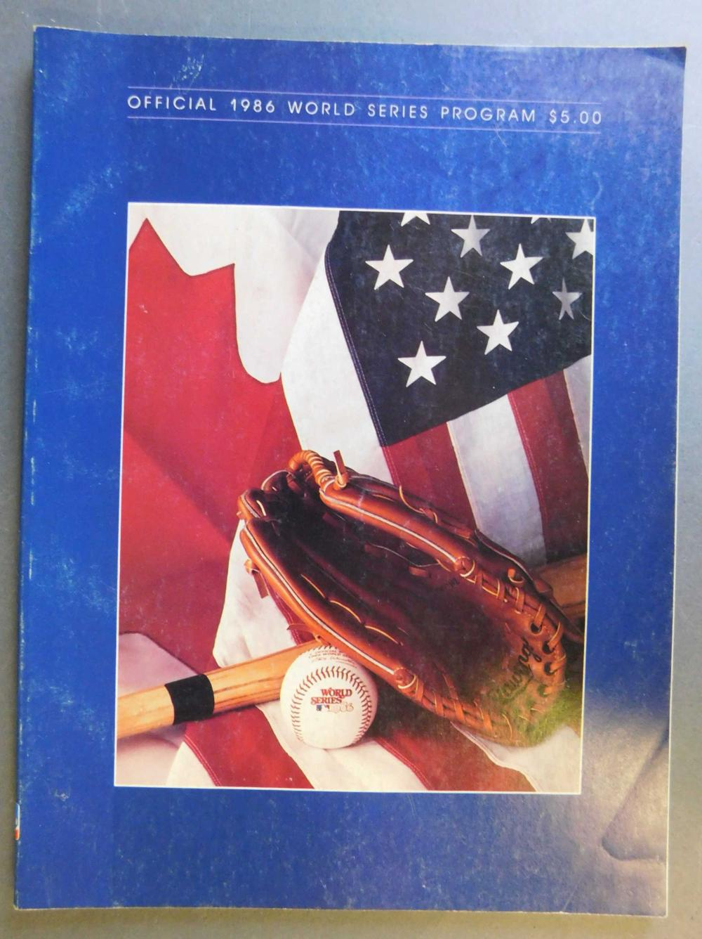 1986 World Series program signed by players: