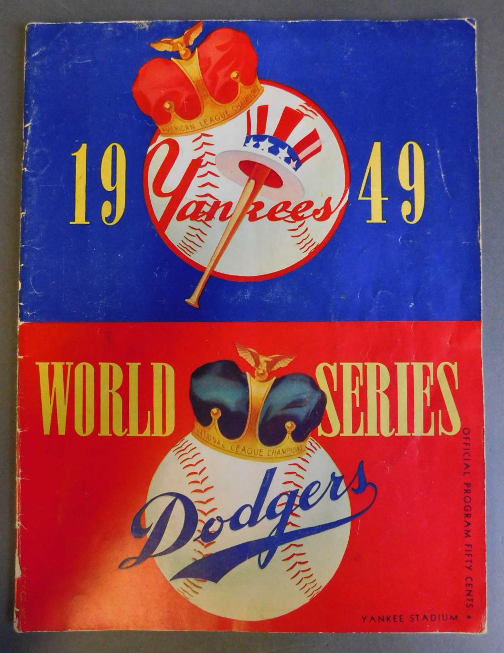 World Series signed by 20 players incl Yogi Berra.