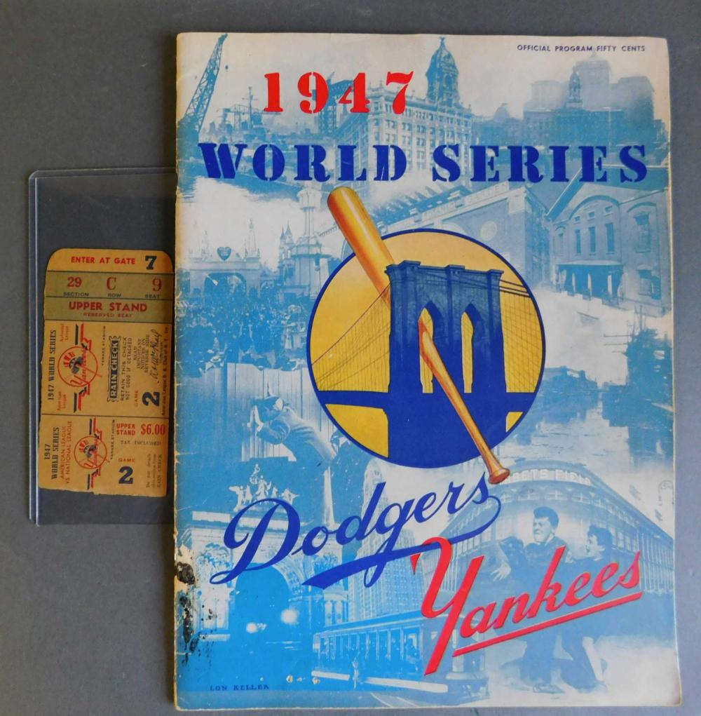 1947 World Series program signed by 9 players: