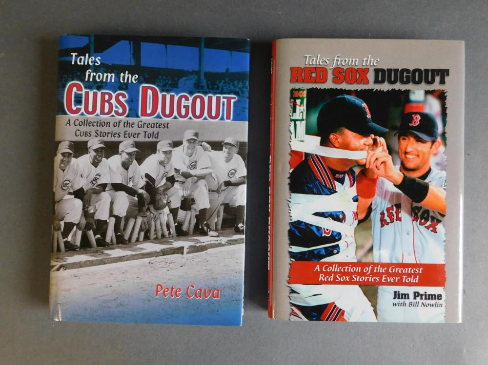 2 books signed by baseball players: