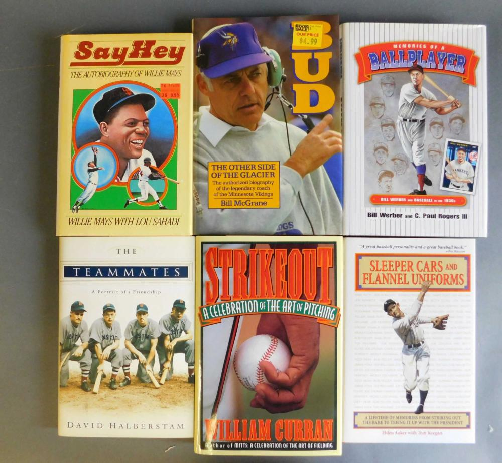 6 books signed by baseball players: