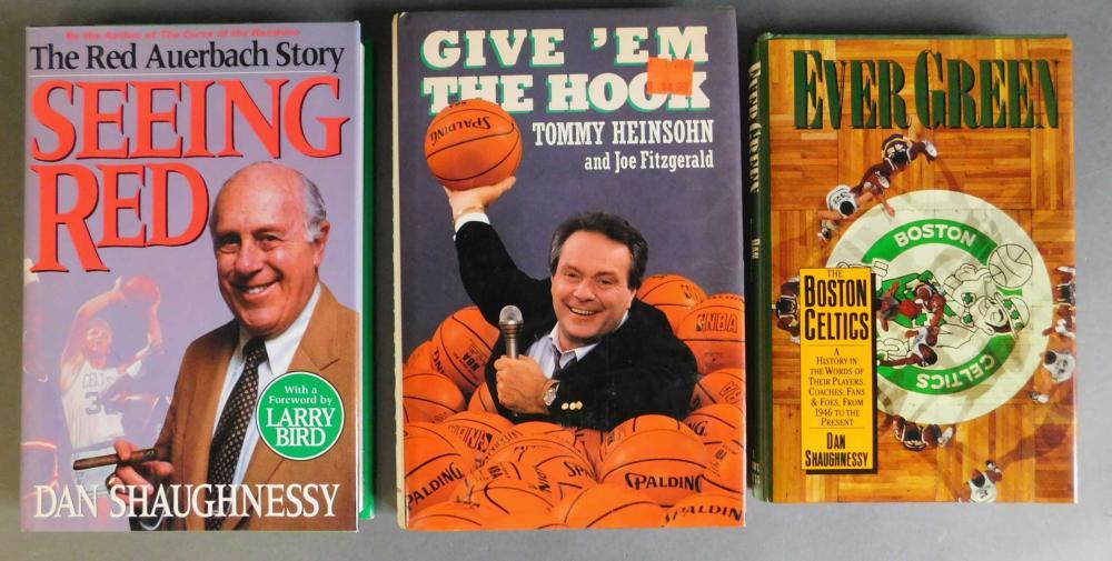 3 signed basketball books.