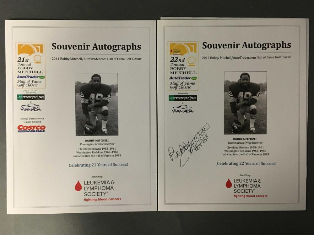 2 items signed by football, basketball players.