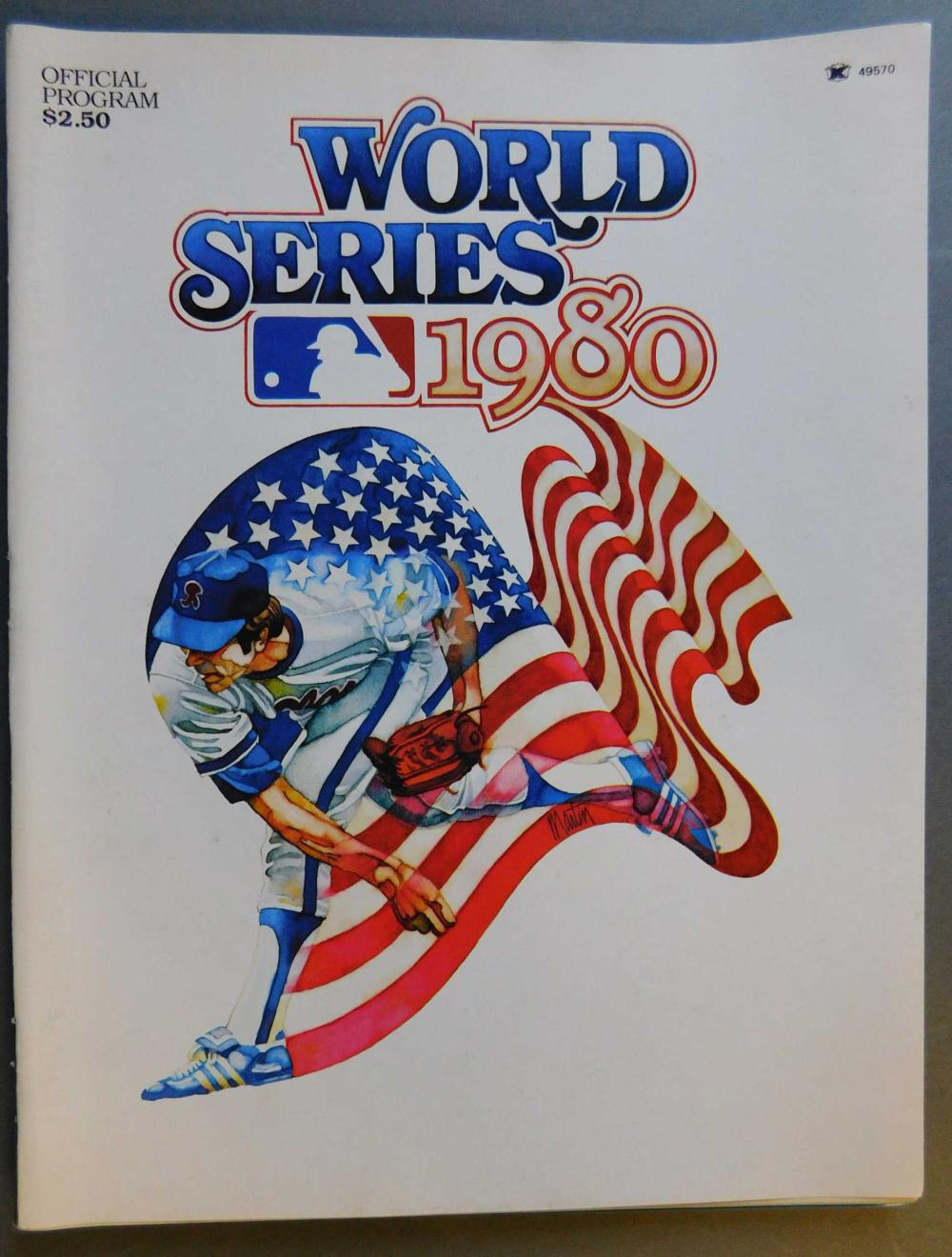 World Series 1980 - program signed by players.