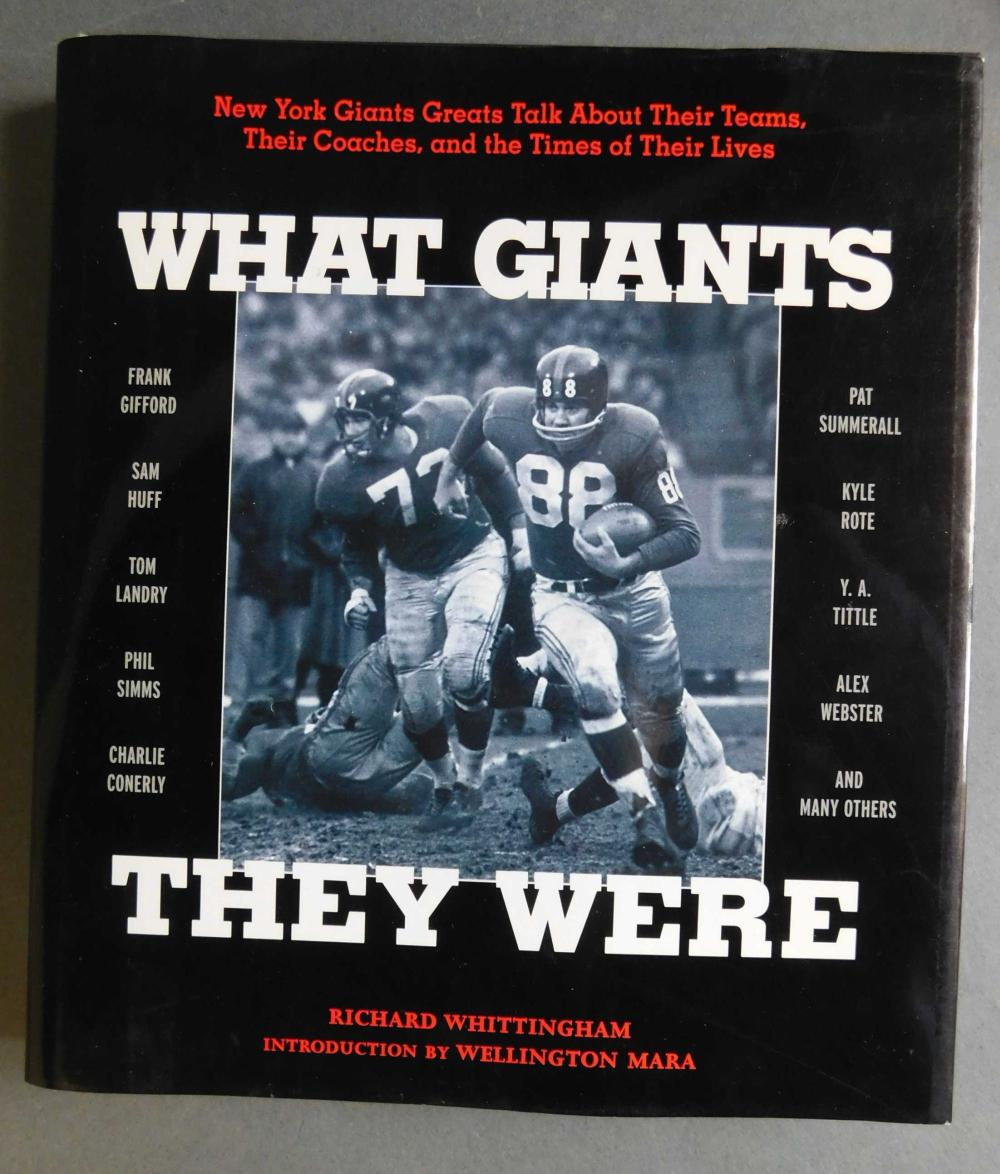 What Giants They Were. Signed by 4 players.