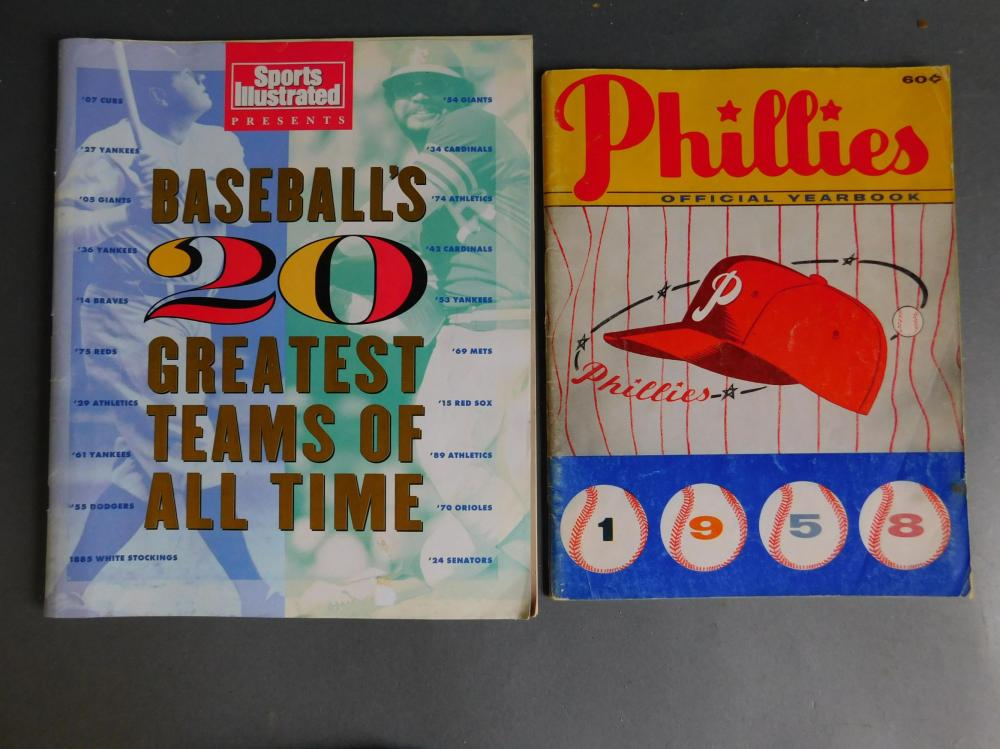 2 items signed by baseball players: