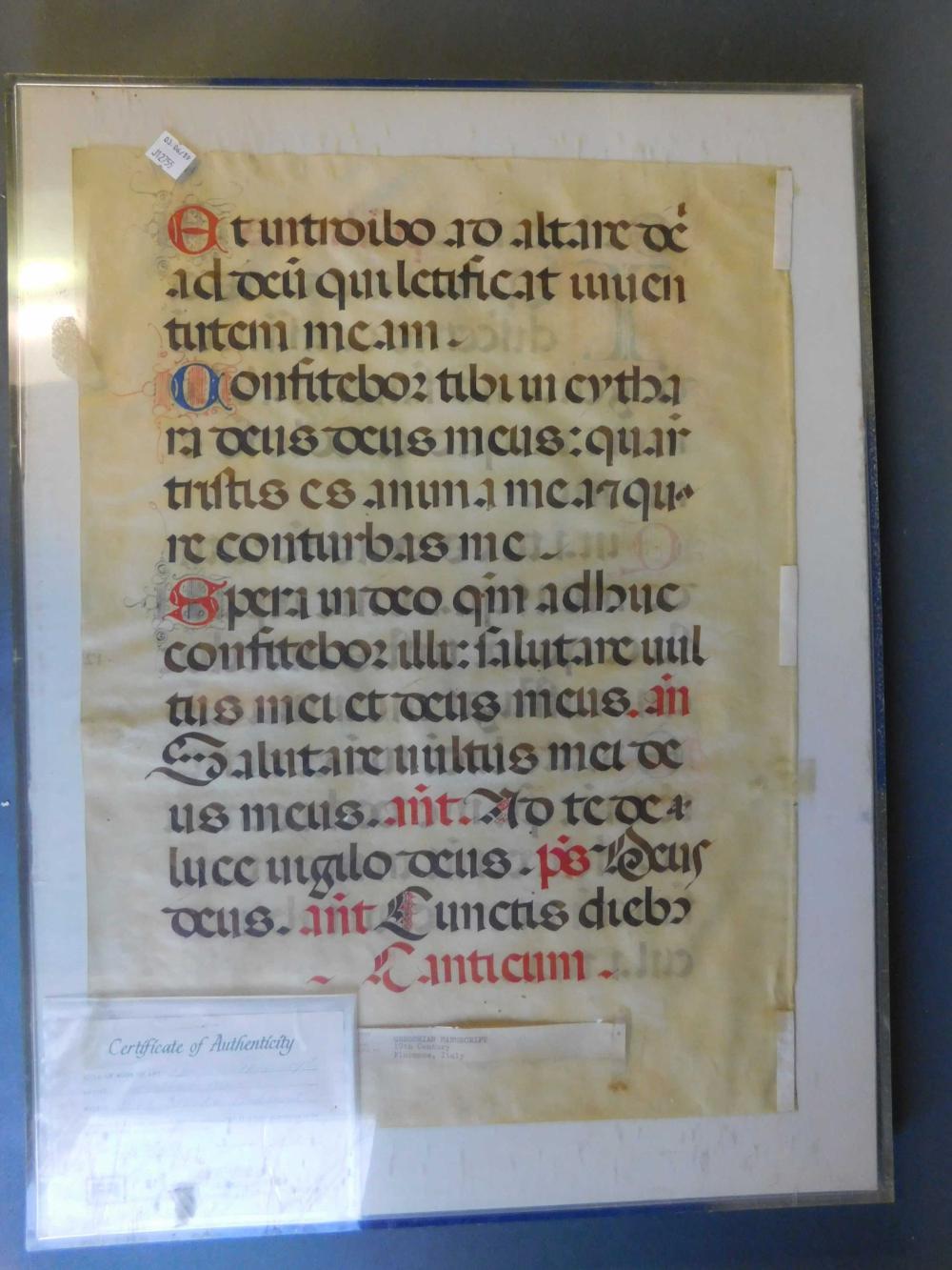 Florentine antiphonary leaf. Gregorian, 1600s.