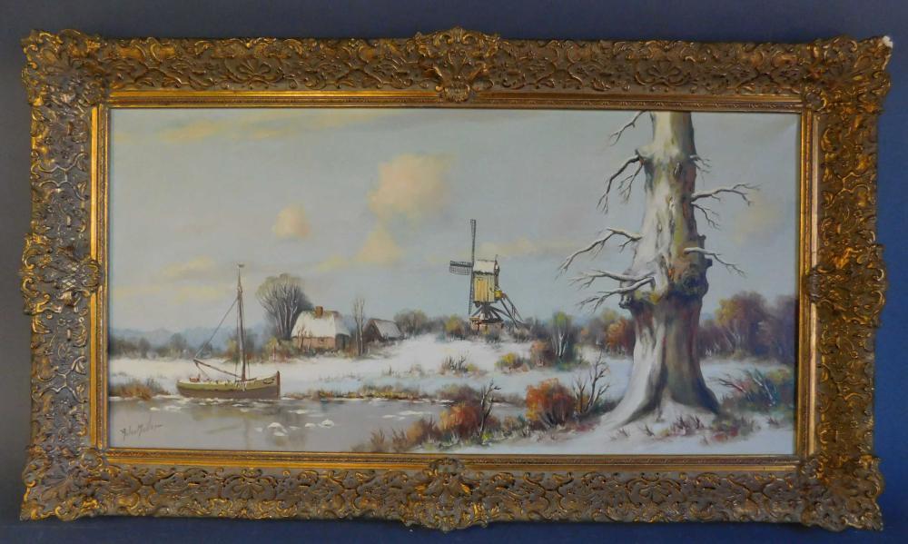 Anton Muller. Signed oil on canvas. Framed.