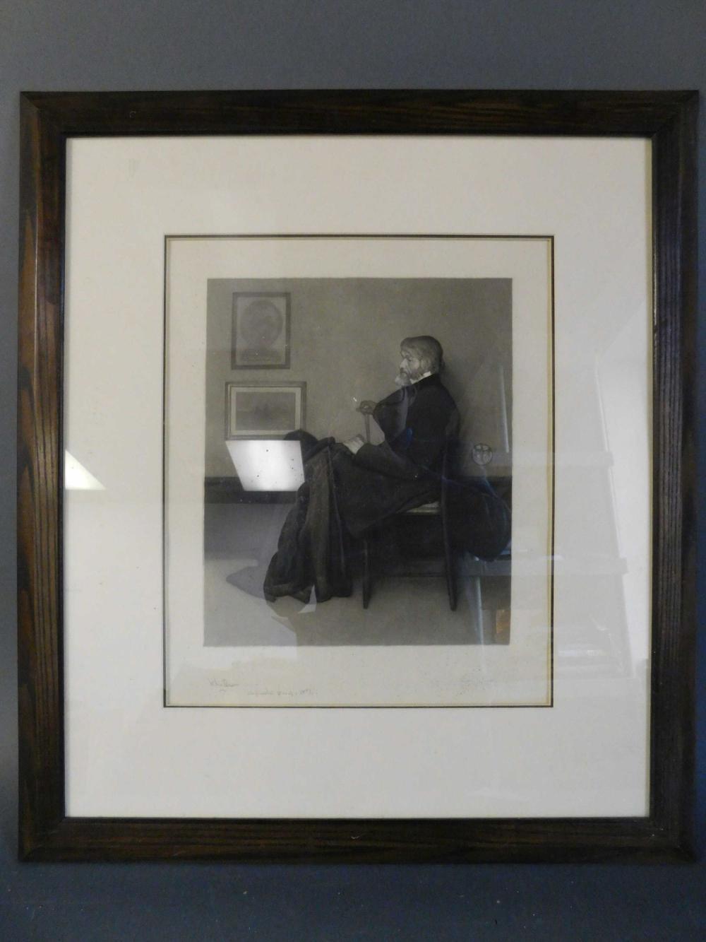 Richard Josey. Portrait of a man. Framed.