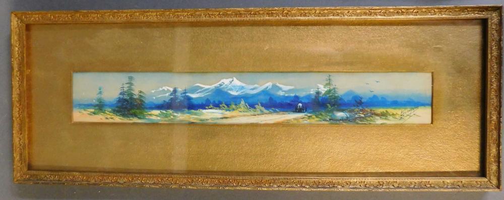 George Beardsley. Watercolor. Signed. Framed.