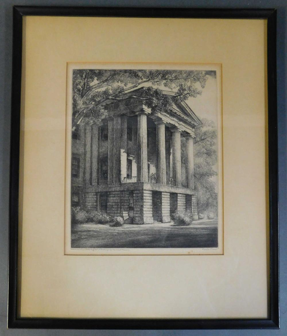 Louis Orr. North Carolina state Capitol... Framed.