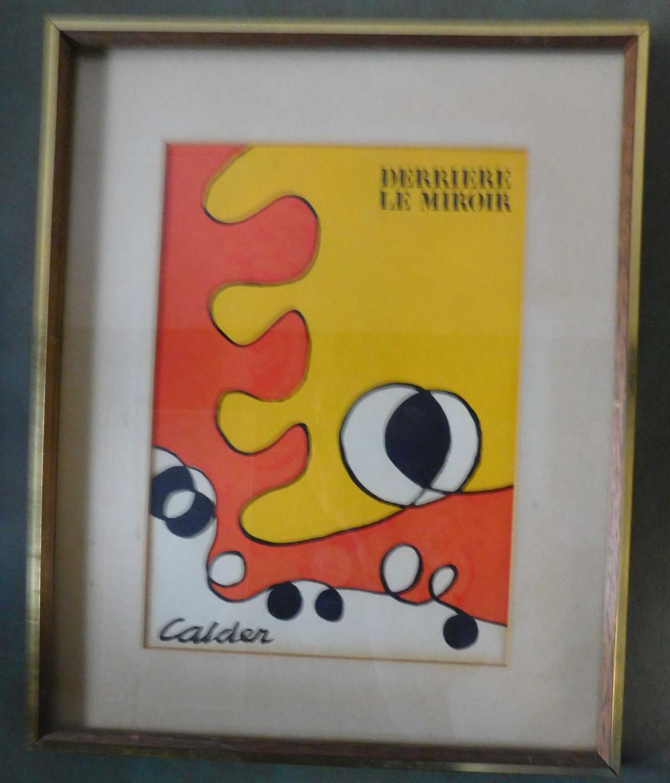 Calder. Color lithograph. Derriere le Miroir.
