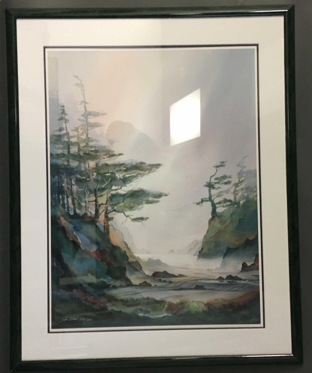 John C. Ebner. 2 framed prints, ink signed. Framed