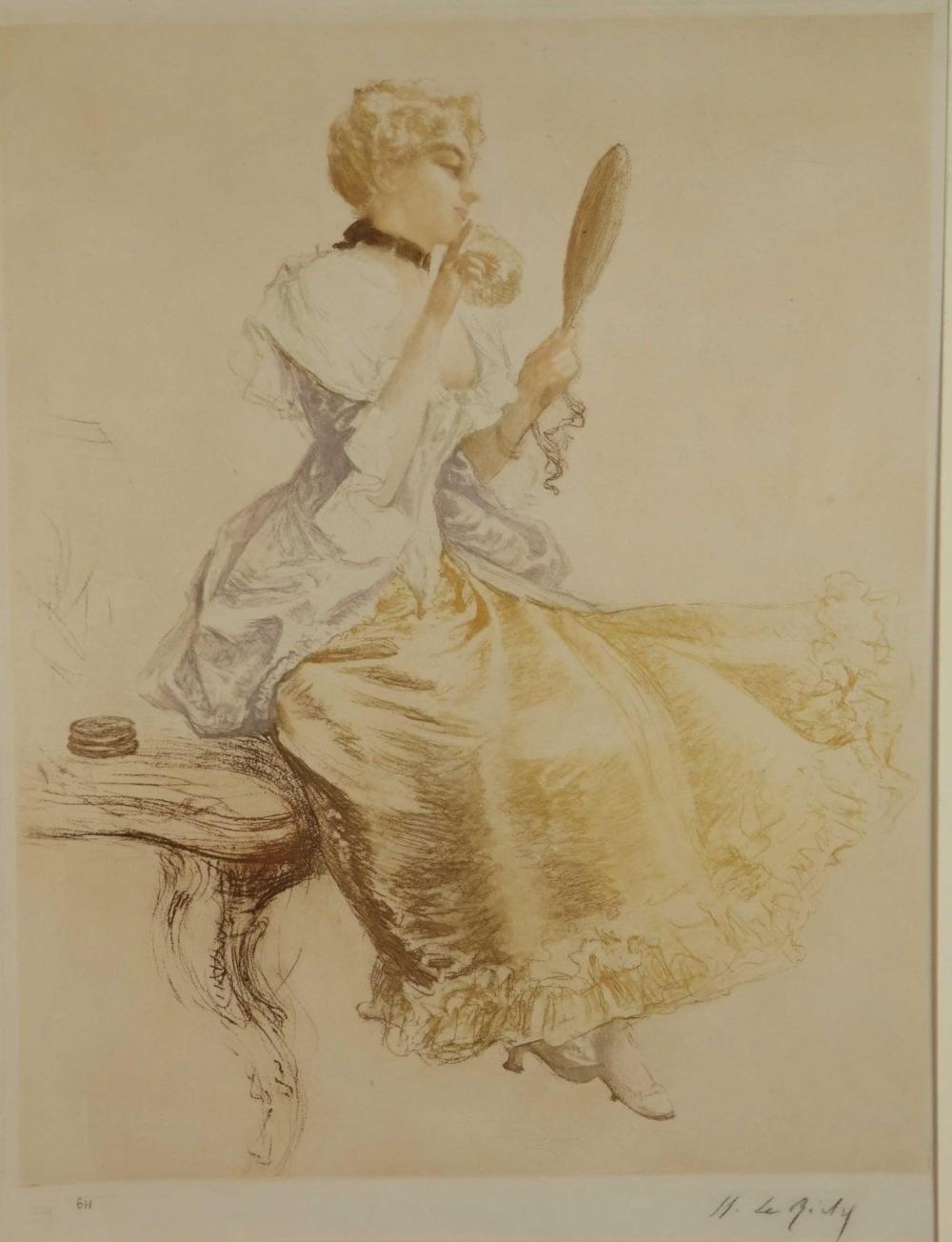 Henri Le Riche. La Maquillage. 19th c.