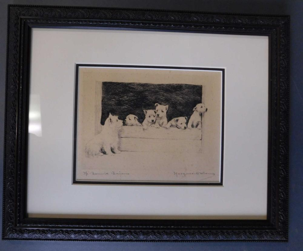Marguerite Kirmse. 2 pencil signed etchings:
