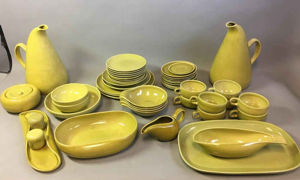 Mid Century Russel Wright Chartreuse Service