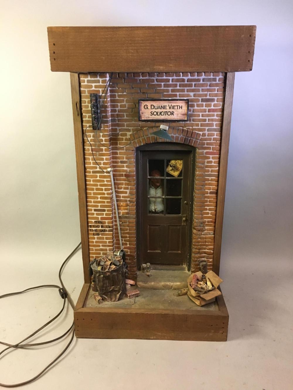 "Vintage Miniature Scene ""G. Duane Vieth Solicitor"""