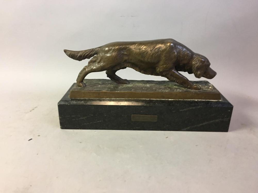 Vintage Bronze Pointer Sculpture