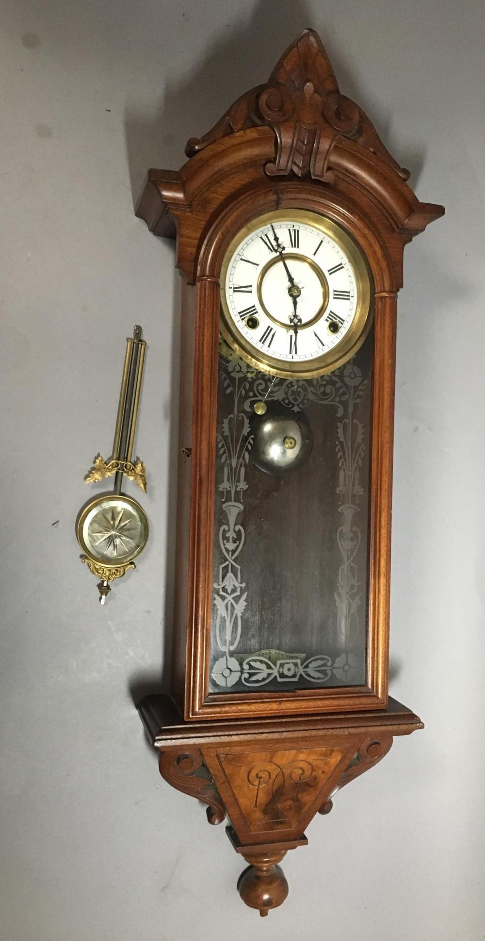 F. Kroeber Hanging Regulator No. 31 Wall Clock