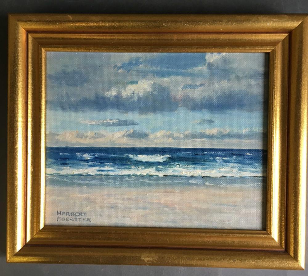 Herbert Foerster. Oil on canvas: Signed. Framed.