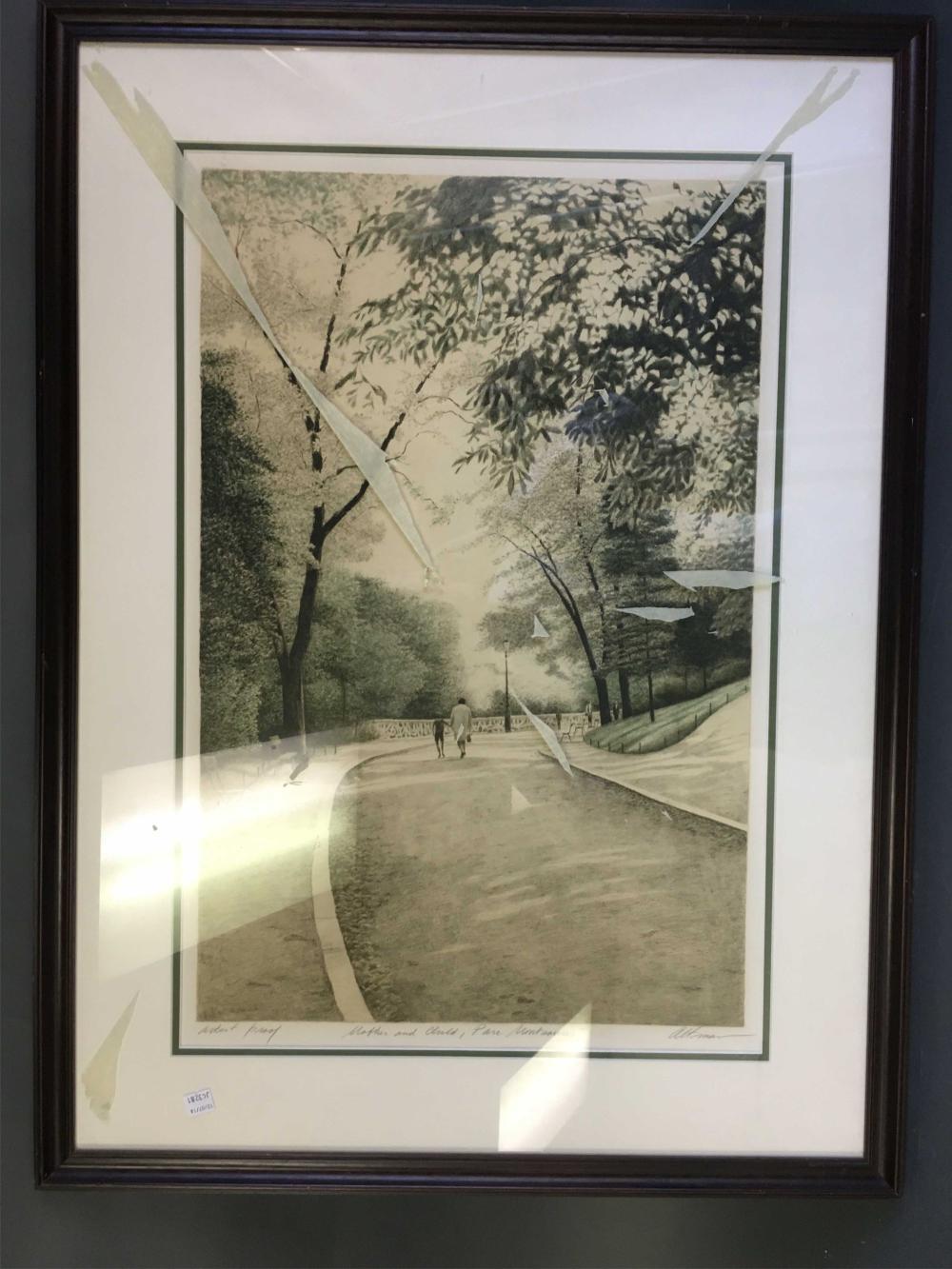 Harold Altman. Mother and Child... Signed. Framed.