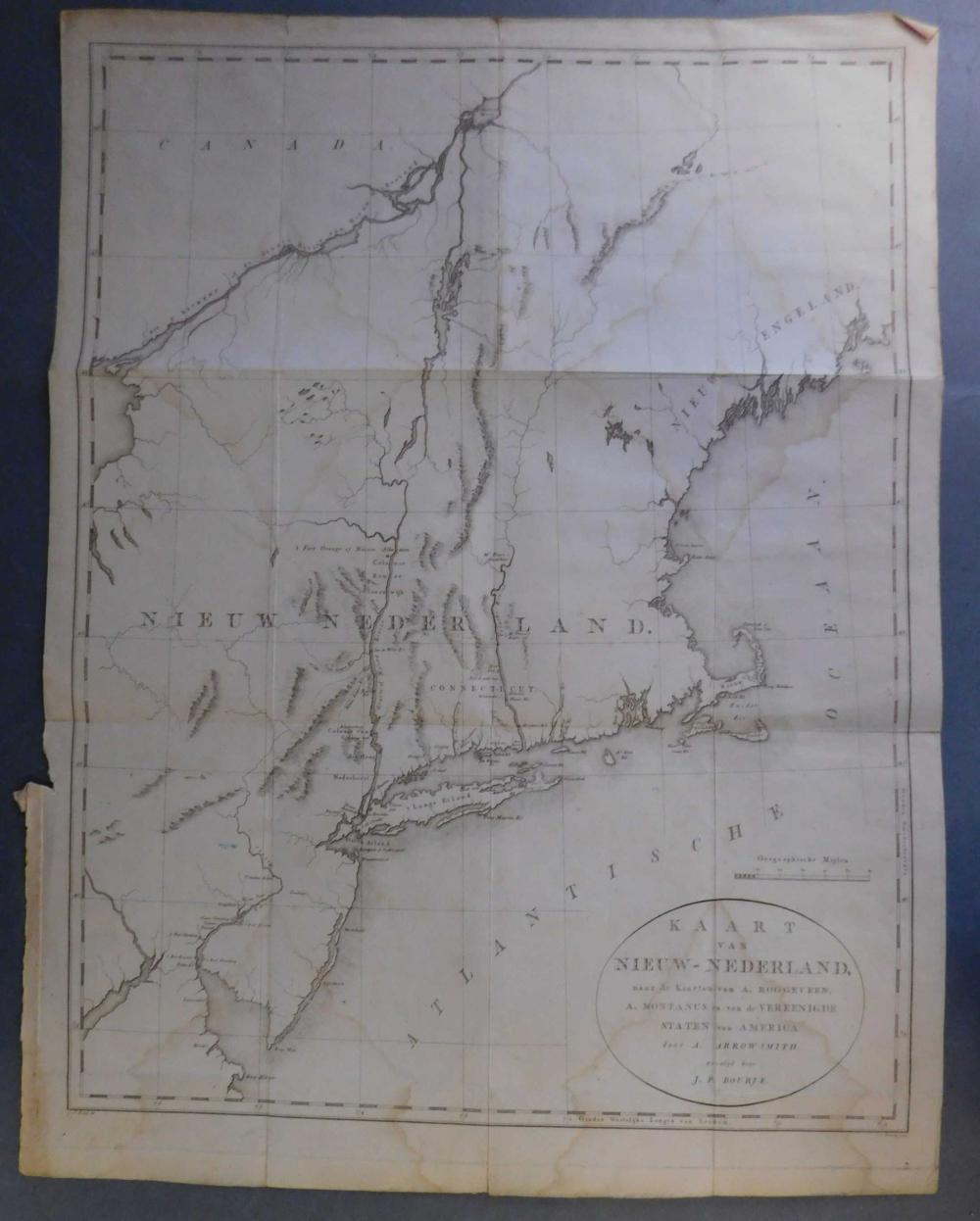Kaart Van Nieuw-Nederland...