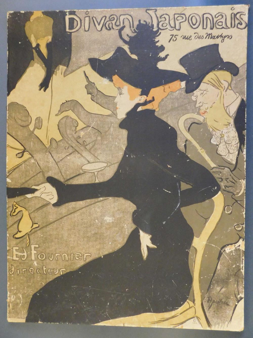 Henri de Toulouse Lautrec. Divan Japonais. Poster.